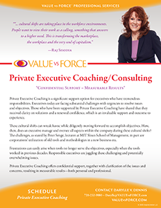 Darylle Dennis, Private Executive Coaching