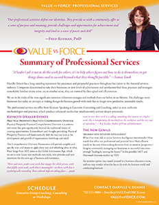Darylle Dennis Professional Services Flyer