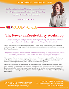 Darylle Dennis The Power of Receivability Flyer